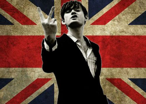 JARVIS COCKER - PULP - UK FLAG canvas print - self adhesive poster - photo print